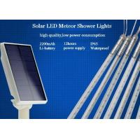Quality 10 Tubes Solar Powered Meteor Shower Lights String 50cm With EU / US Plug for sale