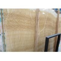 Quality Yellow Onyx Polished Natural Stone Tile For Exterior Walls Honey Onyx Marble Type for sale