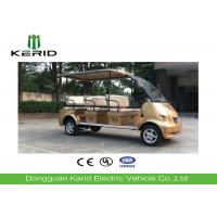 China 8 Seats 4kW Royal Gold Electric Sightseeing Car Designed For Tourist Attractions on sale