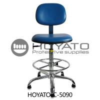360 Degree Rotation ESD Task Chair , Ventilated Leather Comfortable Office Chair