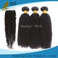 Quality 100% Strength Human Hair Weave Bundles No Split With Machine Double Weft for sale