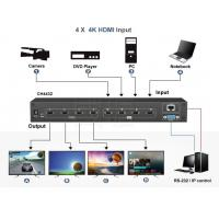 Buy cheap 4 in 4 out Matrix 4K HDMI Switch and support 2*2 video wall and Seamless switch from wholesalers