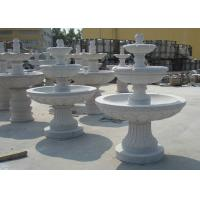 Quality Marble  / Granite Water Fountain Outdoor , Natural Stone Garden Fountains for sale