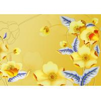 Quality Yellow Color Not Deformed Interior Wall Panels Tv Background Easy To Clean for sale