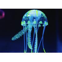 Buy Eco-Friendly Silicone Jellyfish Artifical Aquarium Decoration For Fish Tank at wholesale prices