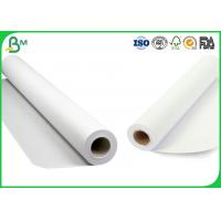 Quality Smoothness Surface CAD Plotter Paper , 3 Inch Core 80gsm Plotter Roll Paper for sale