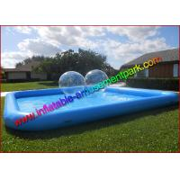 China 0.9mm PVC Tarpaulin Inflatable Water Swimming Pool , Blue  Aqua Pool for Outdoor on sale