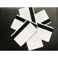 Quality Blank White Glossy PVC Plastic Card With Hico Magnetic 85.5x54x0.76mm for sale