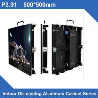 Quality Full Color Indoor LED Panel Rental Display P3.91 500*500/1000mm , Novastar Control for sale