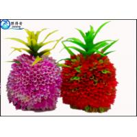 Buy Pineapple Artificial Fruit Fish Tank Decorations Green / Purple / Red Custom at wholesale prices