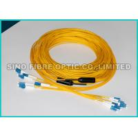 Quality LC - LC 24 Strands Pre Terminated Fiber Optic Cable Single Mode 2.0mm Plenum Rated for sale