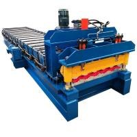 China Roof Panel metal roof roll forming machine / roof tile roll forming machine with 5.5kw motor on sale
