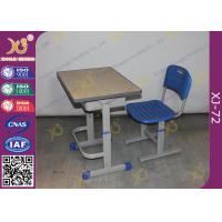 Quality Height Adjustable Floor Free Standing Kids School Desk Chair With Foot Rest for sale