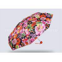 Quality Creative Totes Micro Mini Umbrella , Small Purse Size Umbrella Flower Number Printing for sale