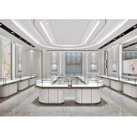 Jewelry Cases For Stores - Fashion Modern Matte White Glass Jewelry Showcase