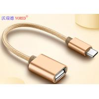 Quality USB To Type C Micro USB Data Transfer Cable , OTG Mobile Phone USB Cable for sale