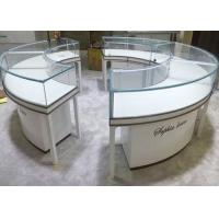 Quality Beautiful Round Lockable Jewelry Display Cases With 0.9 CBM / Pcs Volume for sale