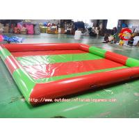 Quality Fire - Retardant Red Inflatable Kids Swimming Pools Custom 4 x 4M for sale