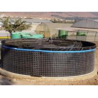 Quality 20000 L PVC Fish Farming Tanks, Flexible Tarpaulin Wire Mesh Tank For Agricultural for sale