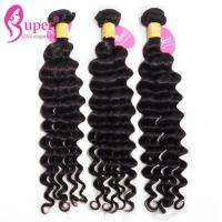 China Steam Processed Virgin Hair Extensions Loose Deep Wave Hair Weave 16 / 18 / 20 Inch on sale