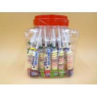 Quality Funny Milk Flavored Brochette Sugar Candies With Jar Various Candy Shapes for sale