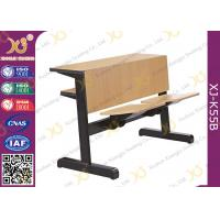 Custom Size Plywood College Classroom Furniture Desk And Chair Seat Folded