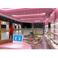 Buy Lovely Style Retail Shoe Store Display Fixtures Decorated With LED Strip Lights at wholesale prices