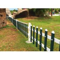 Quality PVC Lawn Decorative Metal Fencing Zinc Coated Square Tube Section 30-60cm Height for sale
