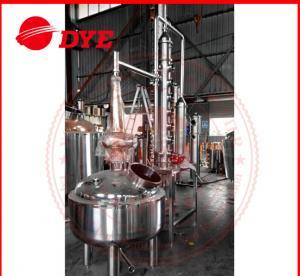 Quality 500L Custom Steam Heating Reflux Still , Vodka Distillation Equipment for sale