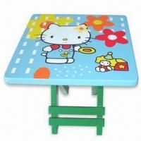 Buy cheap Children's Wooden Stool with Fashionable Design, Made of MDF, Measures 25.5 x 25 from wholesalers