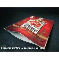 Quality Heat Sealing 600 G Quad Seald Pet Food Pouch For Oatmeal Packaging for sale