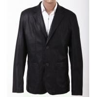Customized Two side pockets Fashionable and Trendy, Black and Classic Mens Leather Suits