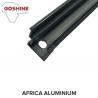 Black powder coated aluminium extrusion profile for aluminium handrail for sale