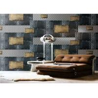 Quality Non - Pasted Retro PVC Waterproof Wallpaper , 3d Wallpaper For Home Wall for sale