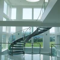 Quality Good Price Commercial / Residential Stainless Steel Prefabricated Curved Stairs for sale