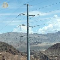 Quality Hot Dip Galvanised Power Pole 166KV 38m For Power Transmission Line for sale
