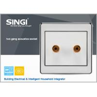 Quality Hot Selling  Video Audio Socket Panel 86x86mm Size For Home Offfice for sale
