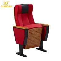 Quality Beech Wood Interlocking Seat Auditorium Lecture Hall Seating With Folding Armrest for sale