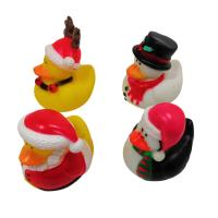 Quality Christmas Yellow Rubber Ducks Baby Tub Toys Cute Deer / Penguin Pattern for sale