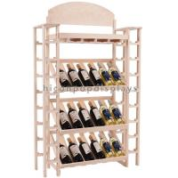 Quality Movable Solid Wooden Wine Display Stand Wine Shelf 4 Layer Sturdy / Durable for sale
