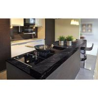 Quality Granite Countertops In Kitchen , Agatha Black Granite Countertop Polish Finished for sale