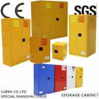 Quality Vertical Drum Hazardous Flammable Storage Cabinet Fully Welded , 60 Gallon for sale