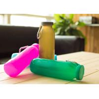 China Promotional Folding Silicone Water Bottle Sports With Wrap 22oz. , Wear-Resistant on sale