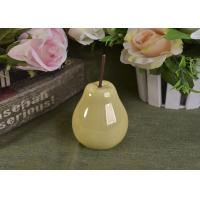 Quality Pearl Glazed Ceramic Pear Dining Kitchen Room Table Centerpiece Fruit Decoration for sale