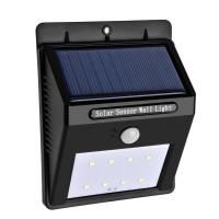 Buy cheap 80 lumens Solar Sensor Wall Light with 8LEDS with Rechargeable Li-ion Battery from wholesalers