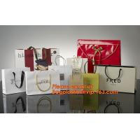 Quality High Quality And Fancy Customized Black Printed Luxury Gift Paper Shopping Bag for sale