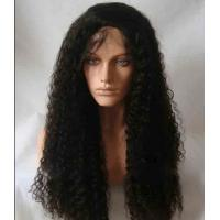 "Quality Black Long Natural Wave 18"" remy human hair full lace wigs Tangle Free for sale"