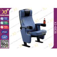Quality Genuine Fabric Home Cinema Seating / Lecture Hall Chairs With Cast Iron Frame for sale