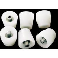 Quality Flexible White Silicone Rubber Stoppers One Hole Texture Surface Finishing for sale