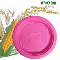 Quality Biodegradable Disposable Plastic 9 Inch Plate (YFY-0901) for sale